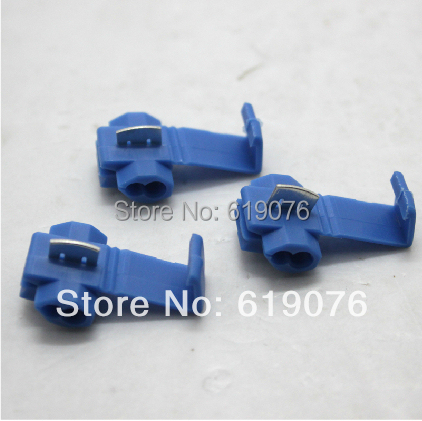 100PCS Blue Scotch Lock Quick Splice 18-14 AWG Wire Connector Free shipping<br><br>Aliexpress