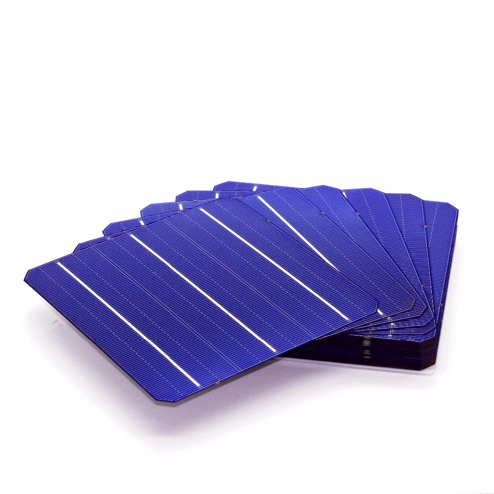 10 Pcs 4 5W 0 5V 19 Effciency Grade A 156 156MM Photovoltaic Mono Monocrystalline Silicon