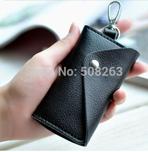 100% Genuine Leather Quality Brand Hot Sell New Fashion Style Solid Key Wallets Bag Car Housekeeper Holders DC79<br><br>Aliexpress