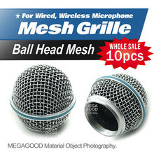 Freeshipping 10pcs/lot Professional Replacement Ball Head Mesh Microphone Grille Fits For Shure BETA58 BETA58A SM58 SM58S SM58LC(China (Mainland))