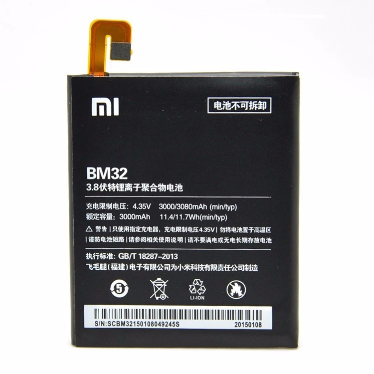 100% TESTED BM32 3000mAh Li-ion Polymer Mobile Phone Battery For Xiaomi 4 M4 Mi4 Xiao Mi 4 Replacement Parts