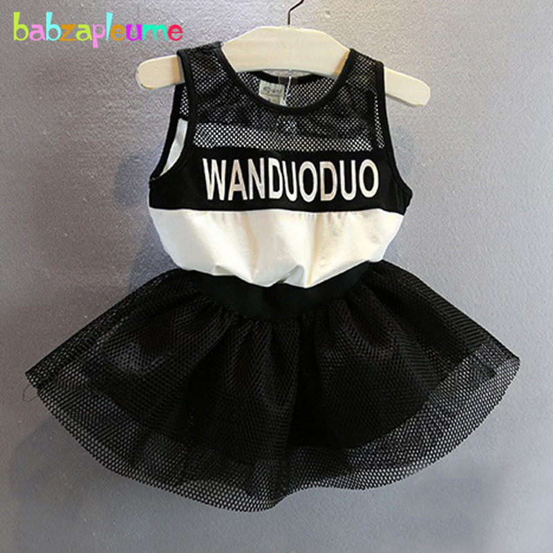 0-7Years/2016 New Summer Kids Dresses For Baby Girls Clothes Sleeveless Lace Casual Letter Children Dress Infant Clothing BC1166(China (Mainland))