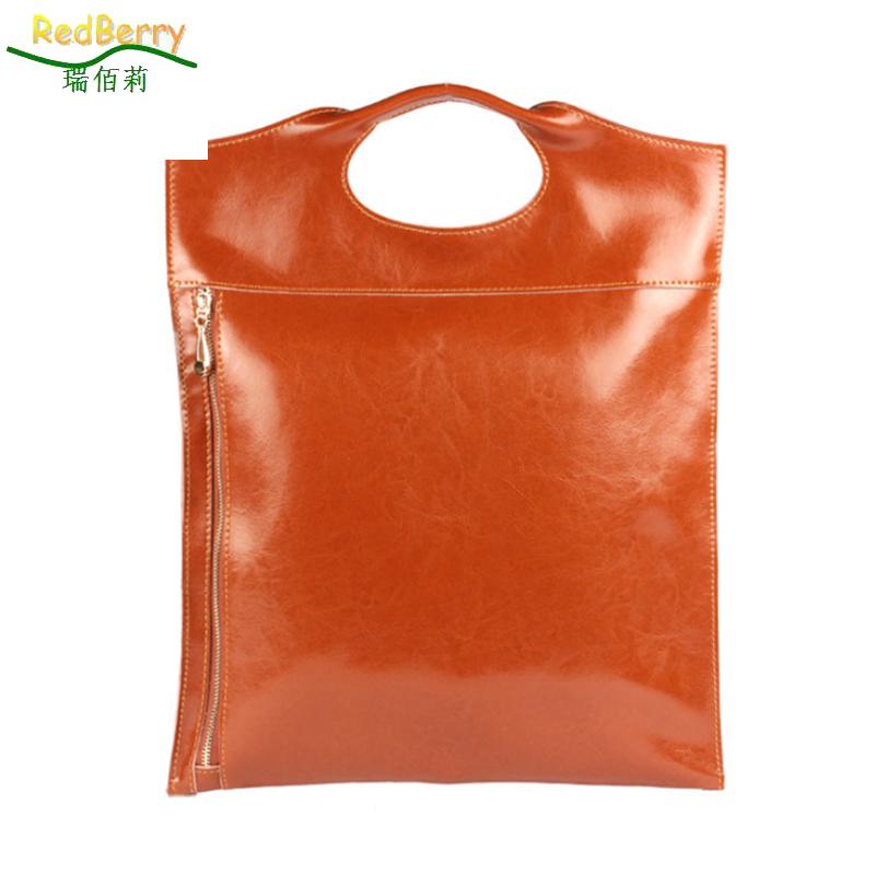 Здесь можно купить  2015 New Fashion Leather handbags women genuine leather bag envelope Tote bolsa feminina ladies Soft bag Zipper Solid bags  Камера и Сумки