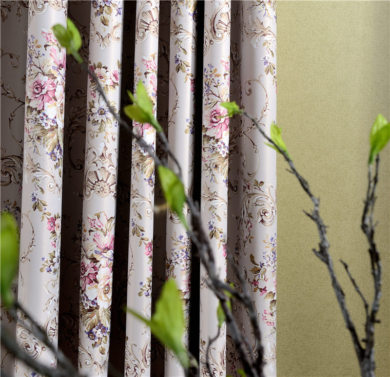 New factory direct high-grade printing full blackout curtains fabric wholesale luxury curtain blind living room window(China (Mainland))