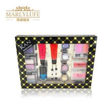Free shipping new 2015 colorful makeup set with eyeshadow and blush and lipgloss(China (Mainland))