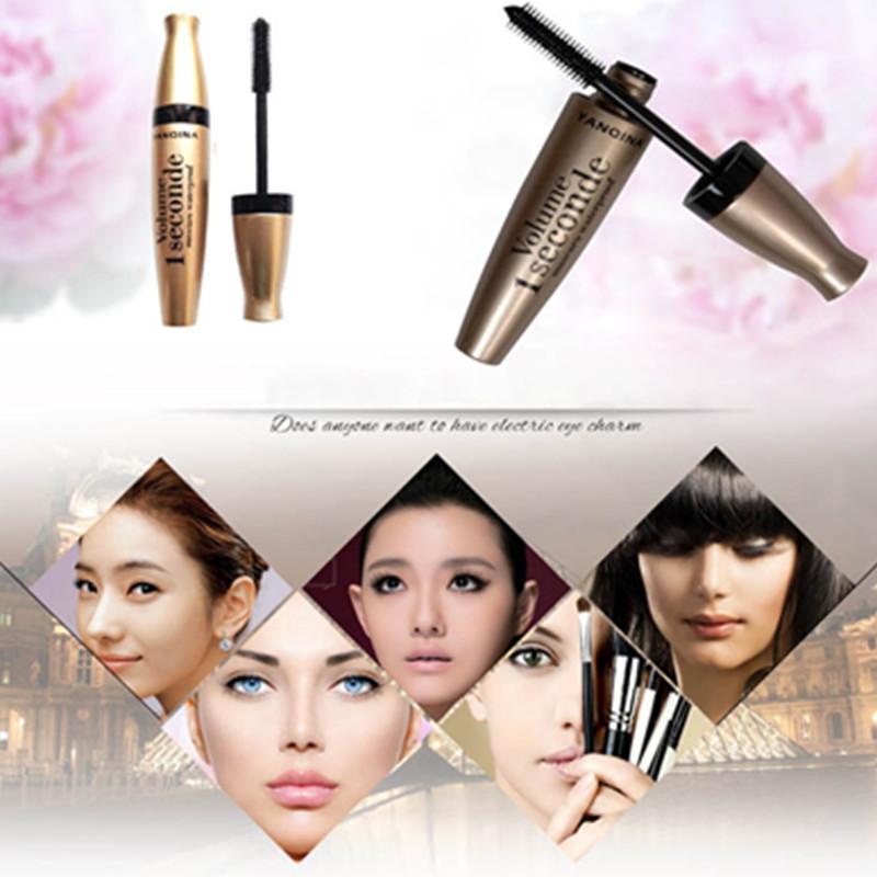 1 Pcs High Quality Waterproof Black Mascara Volume Curling Eyelash Extension Makeup Cosmetic Mascara Liquid