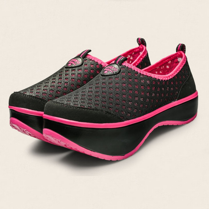 Fashion Mesh Women Sports Shoes 2014 Summer Breathing Wedges High Heel Swing Weight Losing Euro 35-40 B747