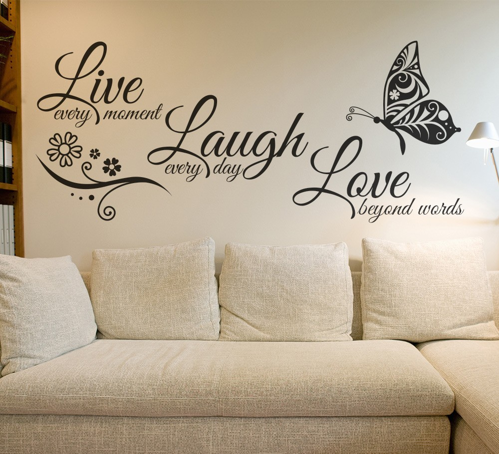 love wall art buy live laugh love butterfly flower wall art with live. Black Bedroom Furniture Sets. Home Design Ideas