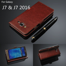 card holder cover case for Samsung Galaxy J7 2016 J710F J710 leather phone case wallet flip cover For Smasung Galaxy J7(China (Mainland))