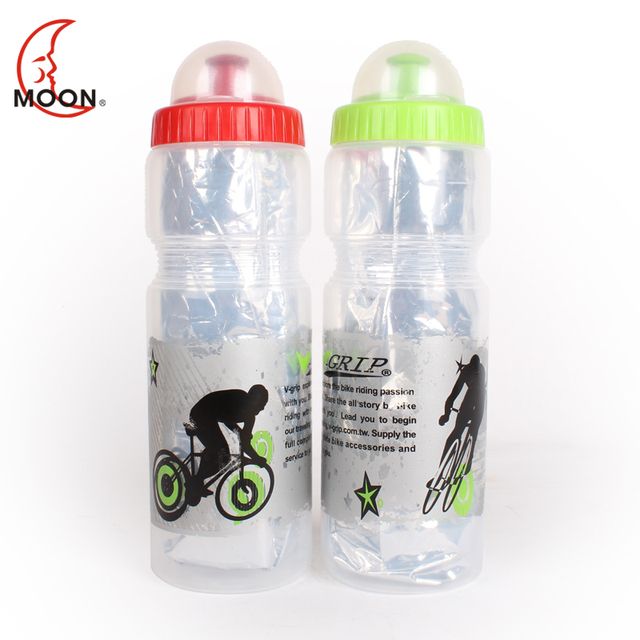 Moon bicycle sports bottle ride outdoor cooler double layer water bottle green red two-color cqua