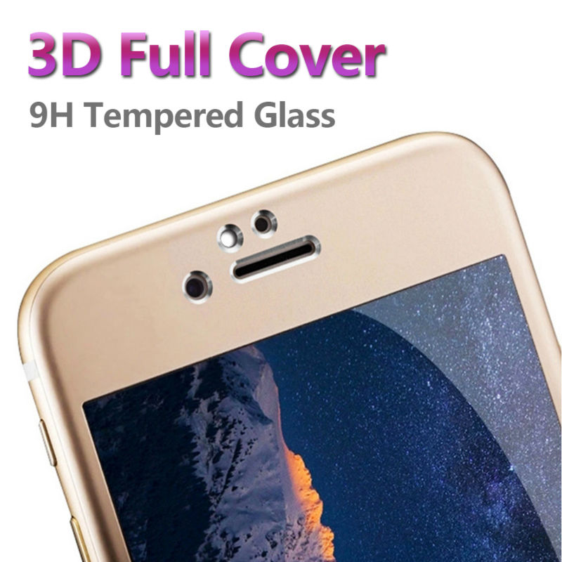 Mobile Phone Accessories 3D Tempered Glass for iPhone 6 s Plus 4.7 5.5 Screen Protector Full Cover Protective Glass Film(China (Mainland))