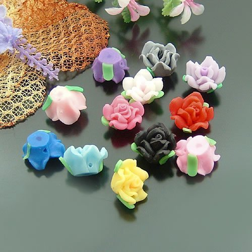 free ship! DIY 15mm FLOWER STYLE FIMO Polymer Clay beads /DIY accessories/ #KY<br><br>Aliexpress