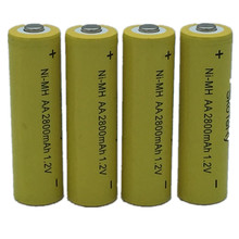 12X Ni-MH 1.2V AA Rechargeable 2800mAh 2A Neutral Battery Rechargeable battery