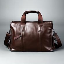 THEEKS Luxury Brands designer Men briefcase bag handbags genuine Leather portabl  laptop bag Business men Shoulder Bags(China (Mainland))