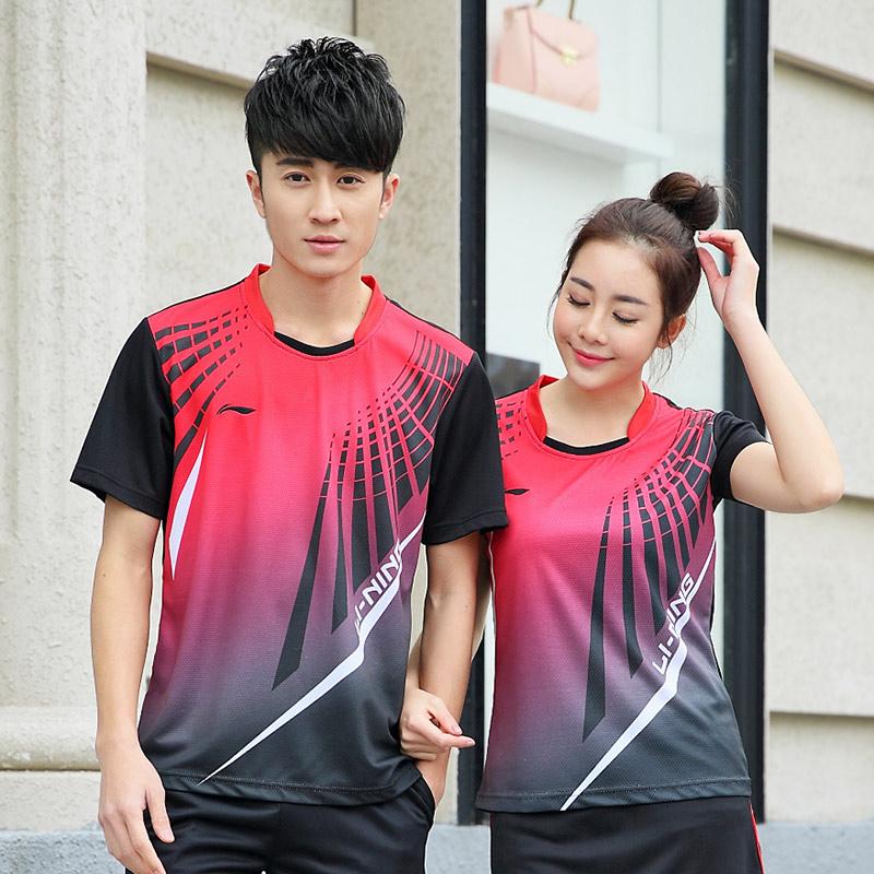 2016 Men/women's Badminton Shirt , Badminton jerseys , Tennis shirt , Quick Dry T-shirt(China (Mainland))