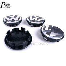 65MM Car Wheel Center Hup Plastic Black Cups cap covers VW Jetta Sagitar Magotan Touran Passat Phaeton Touareg Beetle Tiguan - Parts LTD. store