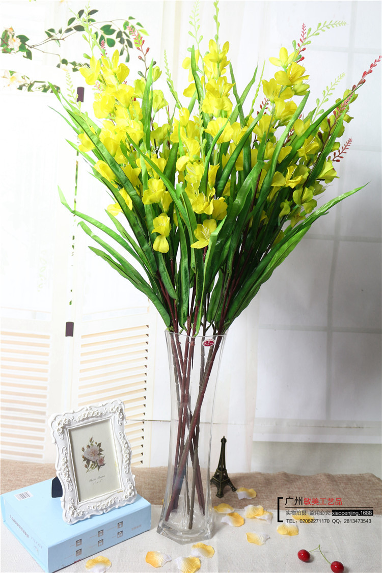 artificial gladiolus orchid silk flower 10pcs/lot home hotel decoration(China (Mainland))