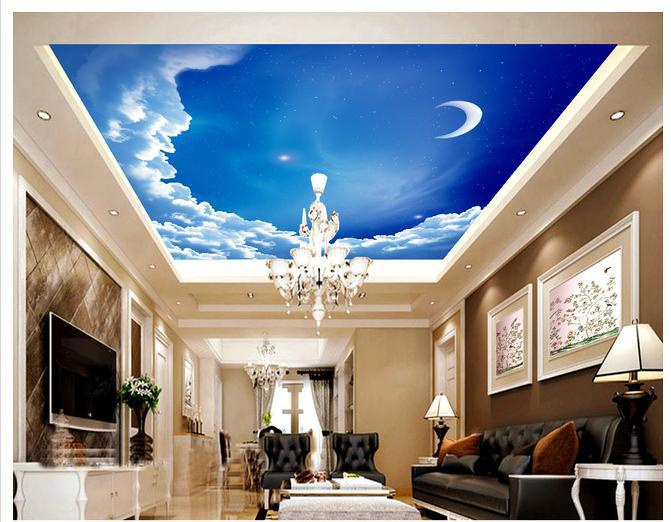 3d wallpaper custom mural non woven European style villa living room ceiling ceiling ...