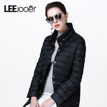 LEEJOOER New Spring Collection 2017 Spring Jacket Women Winter Coat Warm Outwear Thin Padded Cotton Jacket Coat Womens Clothing(China (Mainland))