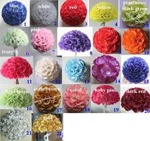 22colors 15cm/ 6 inch Wedding Decorations Silk Kissing Pomander rose Flowers Balls Wedding bouquet Free Shipping(China (Mainland))