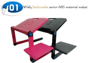 HOT!!!Free shipping,2012 new Portable Notebook stand, Ipad table, folding laptop desk smallest 438mm,Ipaiter438CRM