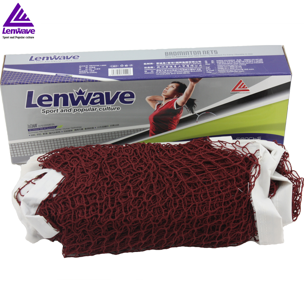 "6m x 0.75m Dark Red ""badminton net"" Standard Size Good For indoor And Outdoor Sports Training(China (Mainland))"