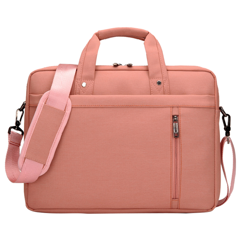 14 Inch big size Nylon Computer Laptop Solid Notebook Tablet Bag Bags Case Messenger Shoulder unisex men women Durable pink