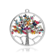Buy Fashion Jewelry Chakra Tree Life Quartz Pendant Multi Color Wisdom Tree Natural Stone Pendant 3615 for $1.34 in AliExpress store