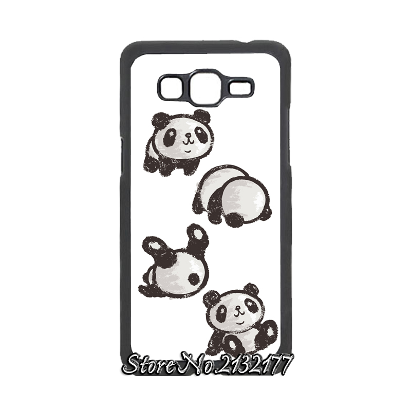 Rolling Panda Cover case for Samsung Galaxy Core plus prime E5 E7 Grand duos Max Neo On5 On7 Ace 2 3 4 Style LTE(China (Mainland))