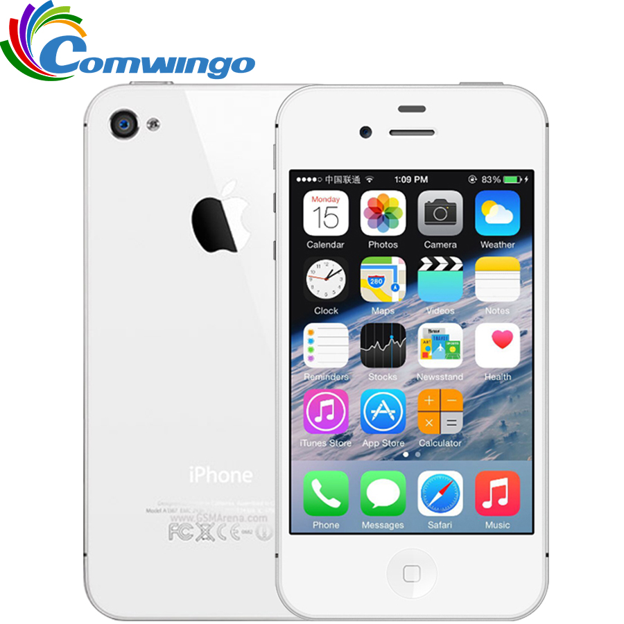Unlocked Apple iPhone 4S Phone 8GB/16GB/32GB ROM GSM WCDMA WIFI GPS 3.5'' 8MP Camera Mobile Phone Used iphone4s(China (Mainland))