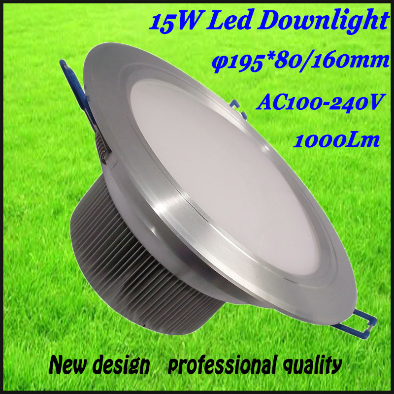 free shipping 10pcs led downlight 15w AC100-240v 1000lm led ceiling downlight best quality the light is downy hot selling(China (Mainland))
