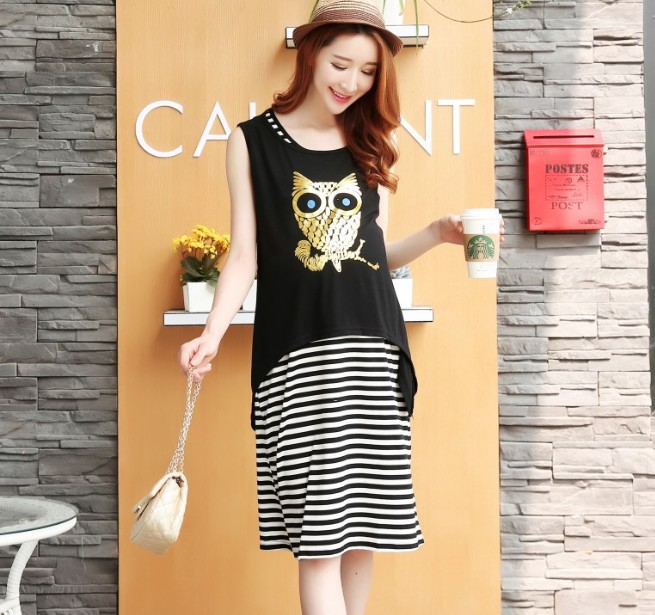 Special Offer Cotton Full The New Han Edition Fashion Maternity Dress Back Hollow Out Nursing Lactation Skirt Wholesale