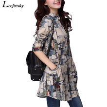 Buy Women Shirts 2017 Autumn Linen Women Tops Long Sleeve Shirt Women Tribal Print Blouses Blusas Long Tunic Tops Female Clothing for $9.92 in AliExpress store