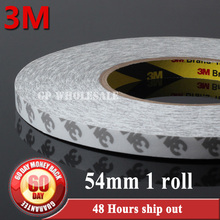 Buy 1x 54mm *50M 3M9080 White Double Sided Adhesive Tape Digital, Electronic Display, Panel Fix, Bond 3M 9080 for $45.21 in AliExpress store