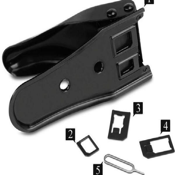 3 in 1 Nano Micro sim card cutter for iPhone 6 plus 5 5s Samsung HTC NOKIA Nano SIM Cut Cutter Free SIM Card Adapter