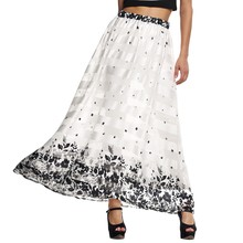 Vintage Muslim Women Long Maxi Skirt Fashion 2016 Pleated Floral Printed Flared Saias Vestidos 61 - Your Wardrobe store