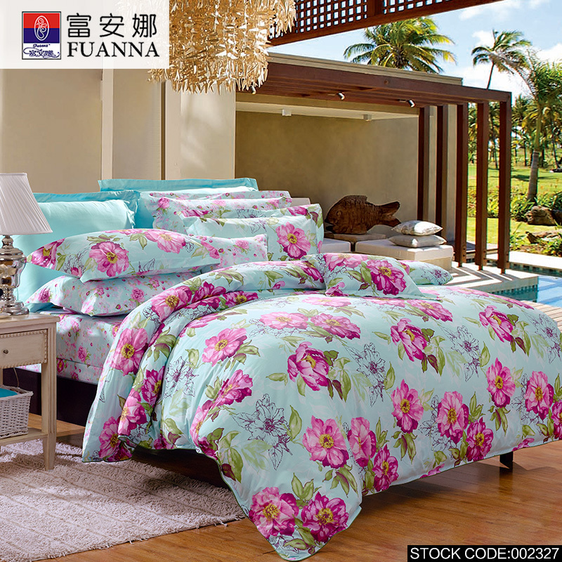 fuanna 4pcs cheap printing bedding set bed linen bed set sheet duvet cover pillowcase. Black Bedroom Furniture Sets. Home Design Ideas