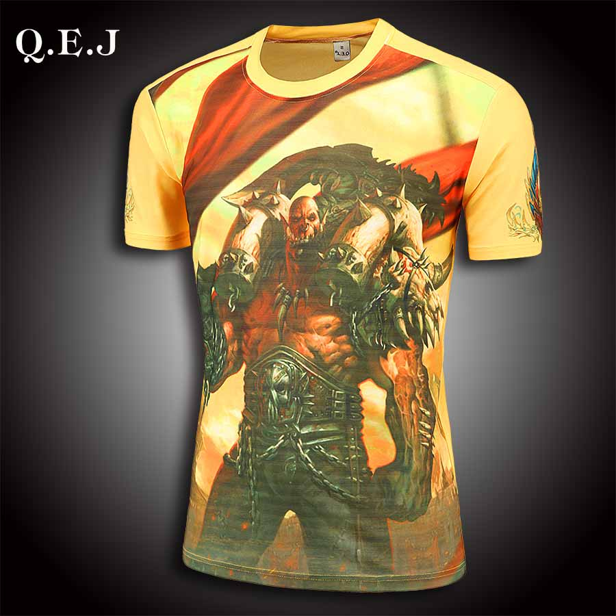 brand-clothing Q.E.J mens t shirts fashion 2016 tshirt homme High stretch fabric pokemon go Men's 3d t shirt gosha rubchinskiy(China (Mainland))