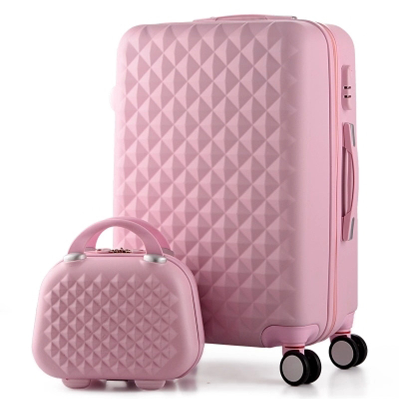 14+20 Inch,Woman Travel Case Suitcases,diamond Luggage Travel Bag,ABS Travel Luggage,Rolling Luggage,Suitcase On Wheels(China (Mainland))