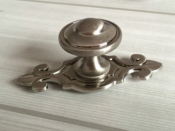 Drawer knobs dresser knob pulls handles brushed steel for Brushed nickel hinges for kitchen cabinets