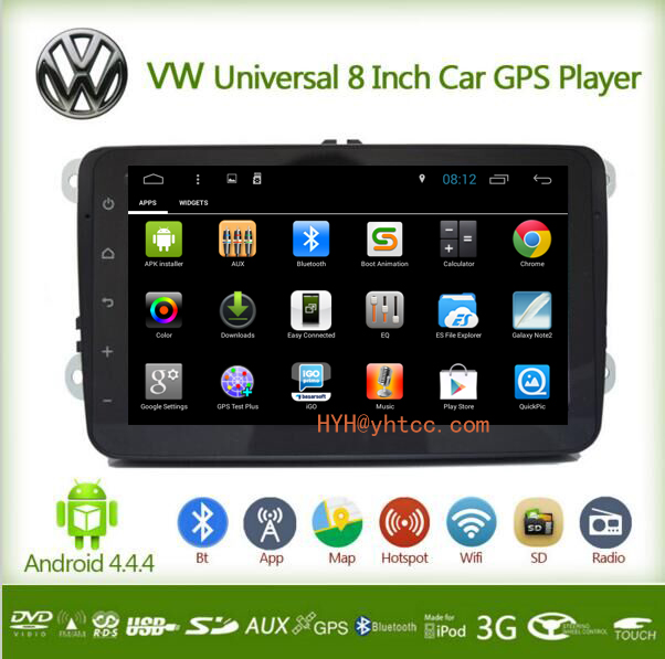 1080P Android 4.4 Car DVD GPS Navi Stereo Audio Video Wifi Double 2 Din Car PC Stereo For VW GOLF 5 6 Polo CC PASSAT Tiguan(China (Mainland))