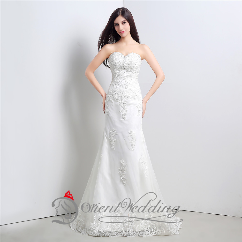 2015 in stock 100 real photos white sweetheart embroidery for In stock wedding dresses