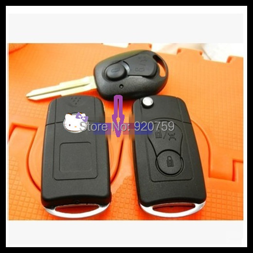 Free shipping for 2 Button blank flip folding remote key shell for Ssangyong Actyon/Suc Kyron/Rexton with best price 0201423(China (Mainland))