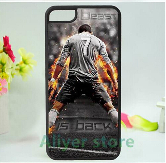 Cristiano Ronaldo CR7 mobile phone case cover for iphone 4 4s 5 5s 5c SE 6 6s & 6 plus 6s plus *jh64(China (Mainland))
