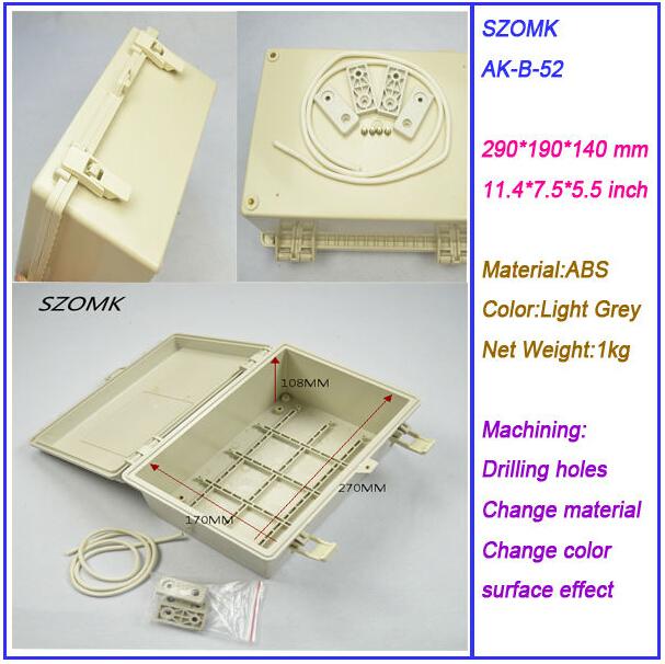1 pcs, abs plastic outlet enclosure 2015 new 290*190*140mm electronics project box, plastic electrical enclosures<br><br>Aliexpress