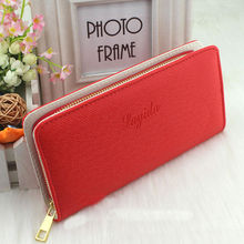 1 PC Women Lady Girls Fashion  Long Wallet Zip Around Case Purse Cards Faux Leather Free Shipping