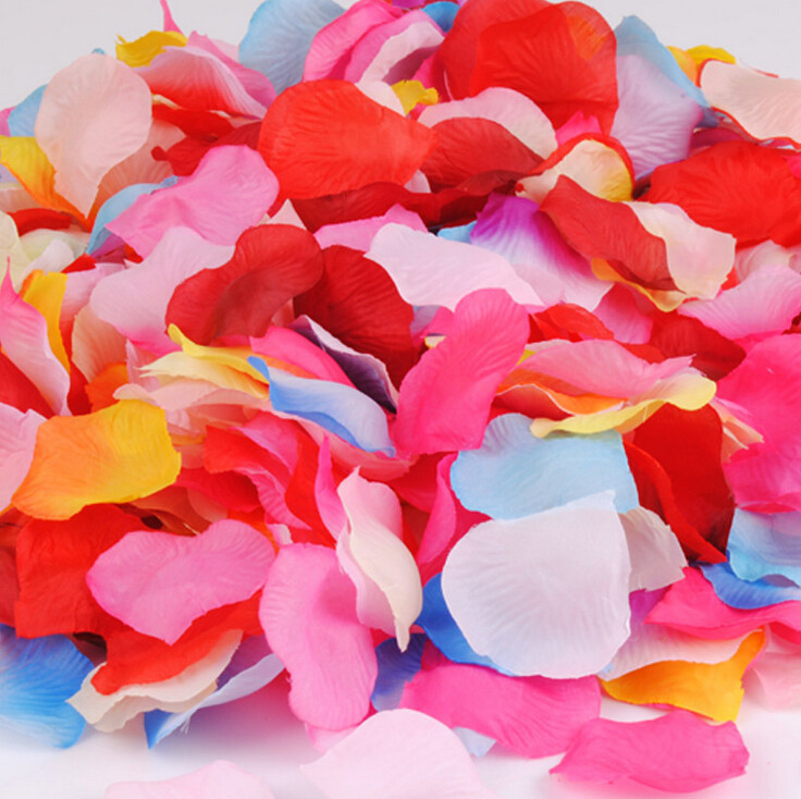 Artificial Silk Rose Flowers Petals 1000pcs Flower Petals Leaves Wedding Table Decorations Event Party Supplies Confetti Wreaths(China (Mainland))