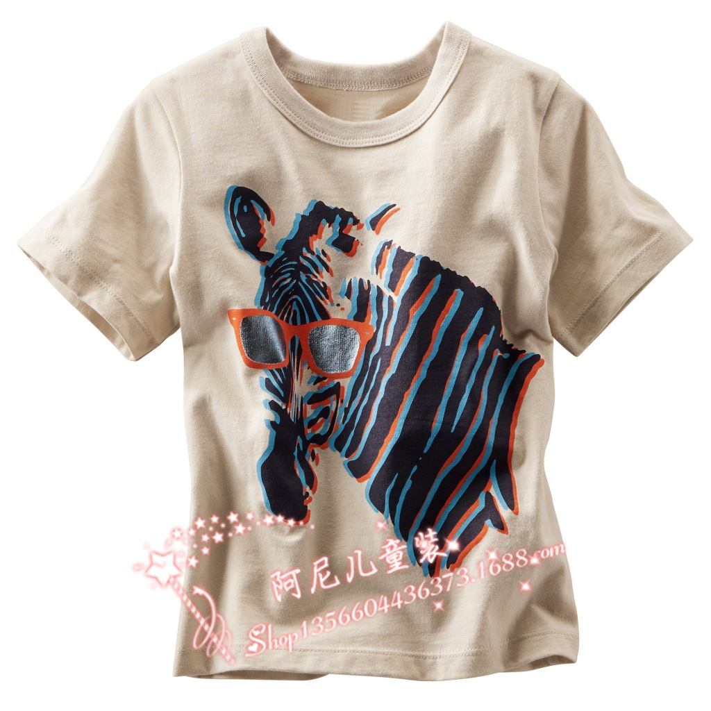 Children T Shirts 2015 Summer Brand 3D Horse Print Kids Boys Girls T-shirts Toddler Baby Clothing Clothes Tees Tops 18M/6T - ARISTOTLE FASHION DESIGN CO.,LTD. store