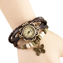 Retro pulsera de la mariposa mujer reloj de cuarzo reloj Relojes mujer 2015 moda casual relogio feminino reloj