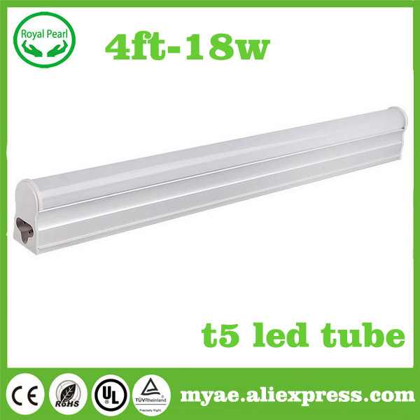 (4piece)  free shipping t5 led tube 1200mm 1.2m 4ft 18w AC 85-265v 2835 chip t5 led lamps products living room(China (Mainland))